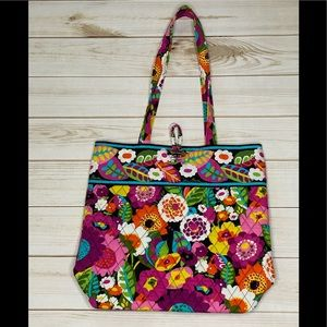 VERA BRADLEY Va Va Bloom Tote Bag Purse Handbag